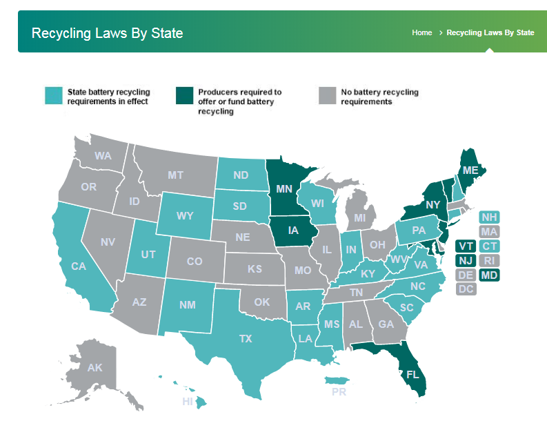 Recycling Laws By State United States