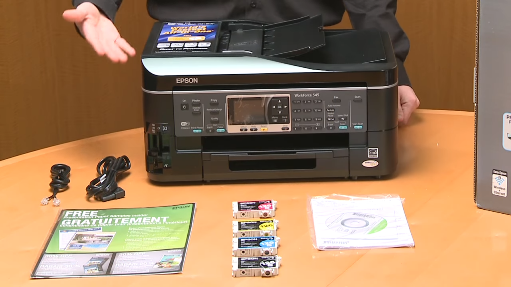 Epson WorkForce 545 All-in-One Printer _ Unboxing
